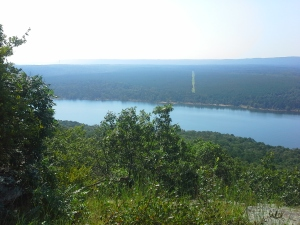 View from atop Sugarloaf Mountain in Fairfield Bay, AR