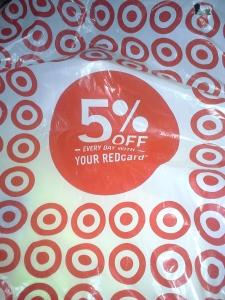 Plastic Target shopping bag