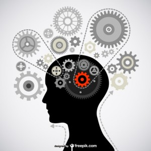Image of gears working in a brain designed by Freepik.com Icon vector designed by Freepik