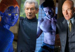 "Photo of X-Men mutants Mystique, Magneto, Wolverine, and Professor X from Indiewire's ""The Playlist"" at http://bit.ly/1oT3cLM"