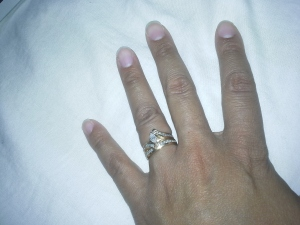 Roshaunda's hand with her wedding ring