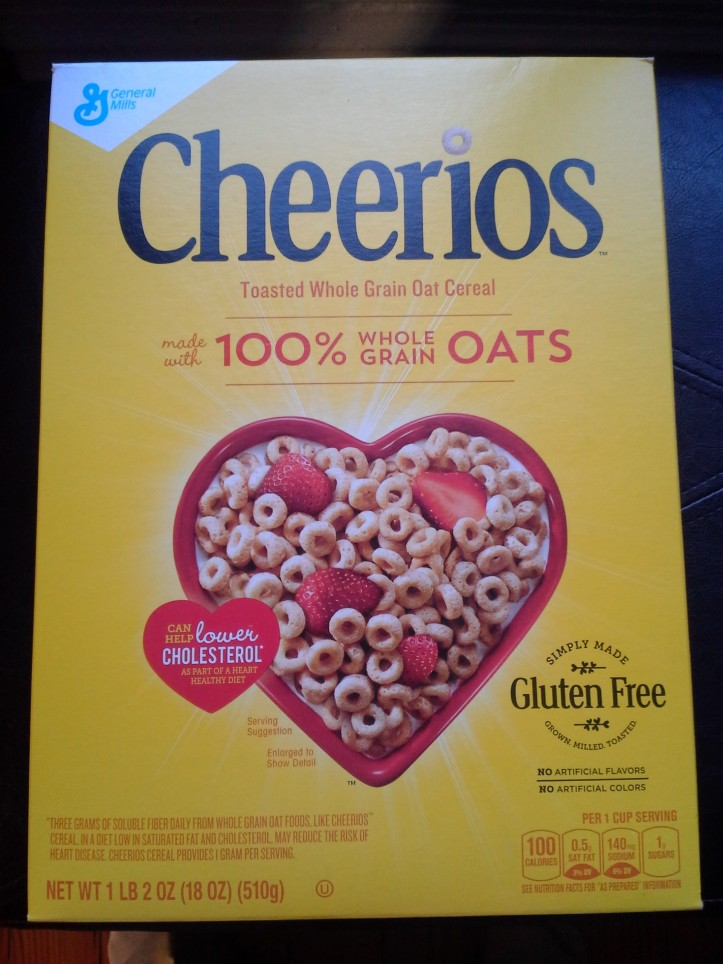 Family-sized box of gluten-free Cheerios