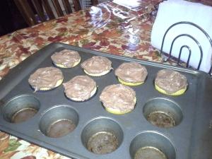 Cupcakes in a baking tin