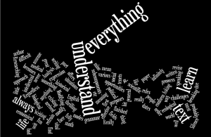 Wordle image created from the words of the Study English post