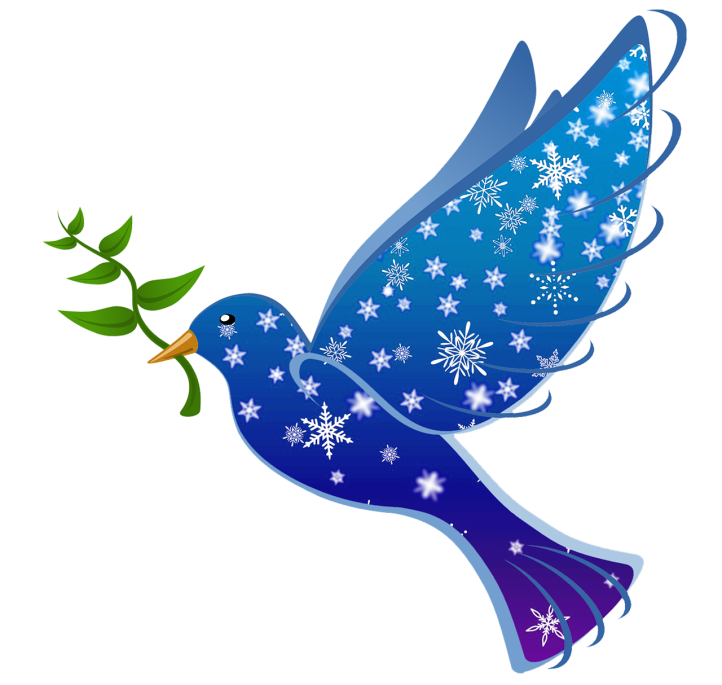 wintry peace dove