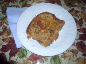 2nd (not perfect but very good) grilled cheese sandwich