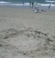Sand creation at Myrtle Beach