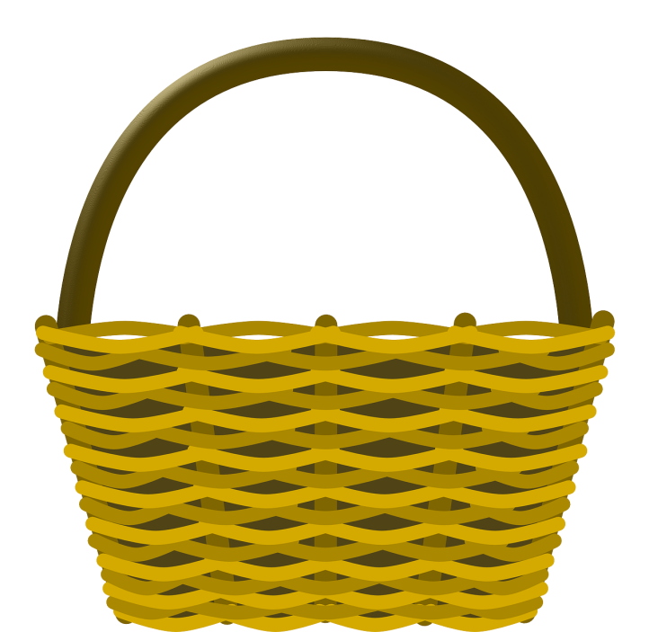 Yellow basket by OpenClipartVectors in Pixabay at https://pixabay.com/en/basket-shopping-wicker-basket-159430/