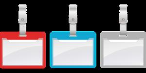 Name badge by settergren on Pixabay at https://pixabay.com/en/name-nameplate-badges-trailers-441078/