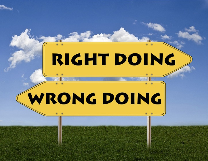Right and wrong directional arrow signs by johnhain on Pixabay at https://pixabay.com/en/signs-right-wrong-good-bad-1172209/