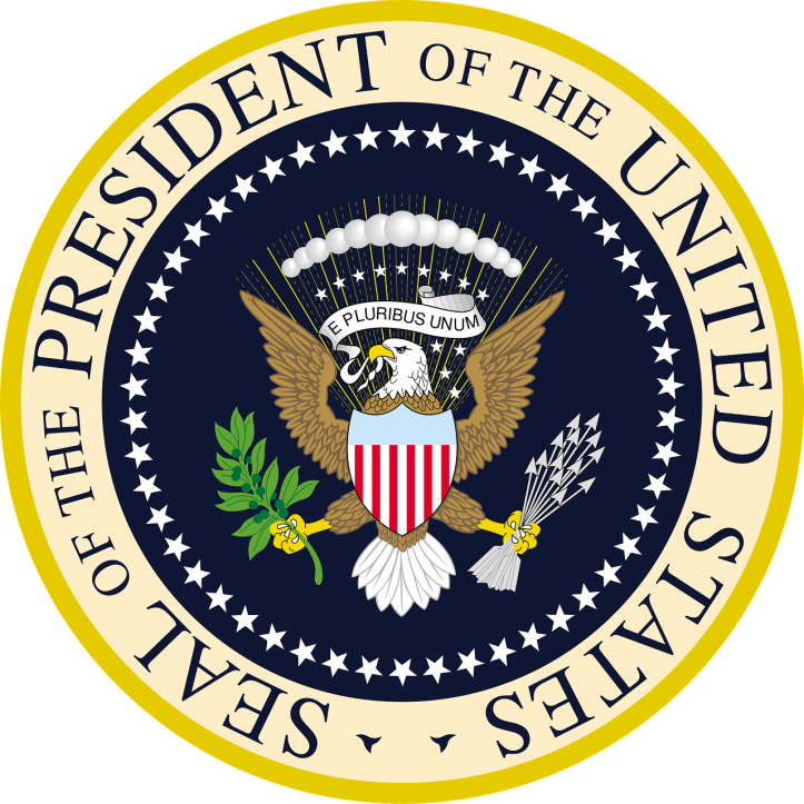 Presidential seal by janeb13 on Pixabaky at https://pixabay.com/en/seal-president-of-the-united-states-1163420/
