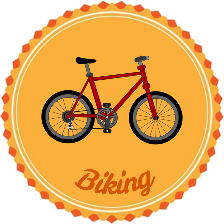 Bike badge by raphink on Pixabay at https://pixabay.com/en/badge-flair-biking-1093966/
