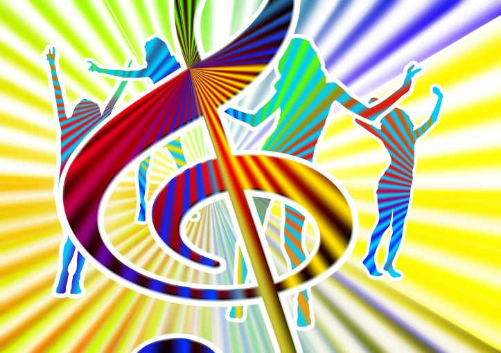 Music and dancing by geralt on Pixabay at https://pixabay.com/en/music-dance-fun-party-movement-594952/