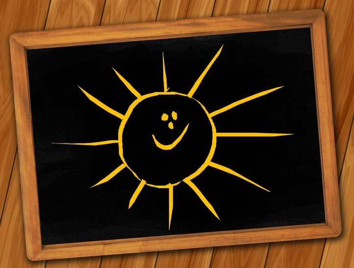 Sunshine on a chalkboard by geralt on Pixabay at https://pixabay.com/en/board-blackboard-structure-paneling-142741/