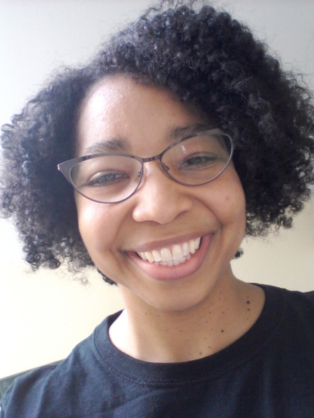 Roshaunda with her (almost) wash and go hair