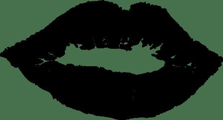Black lips by OpenClipartVectors on Pixabay at https://pixabay.com/en/affection-kiss-lady-lips-love-1294965/