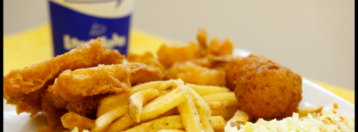 Long John Silver's chicken plank meal. Photo taken from Long John Silver's website photo carousel at http://bit.ly/1W1LLtL