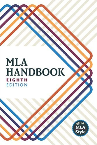 Cover of the MLA Handbook, 8th edition copied from Amazon at http://amzn.to/1WRsrxV