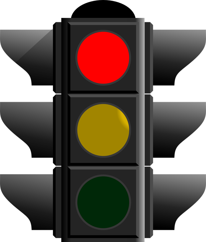 Red light traffic signal by ClkerFreeVectorImages on Pixabay at https://pixabay.com/en/traffic-light-signal-stop-red-305484/