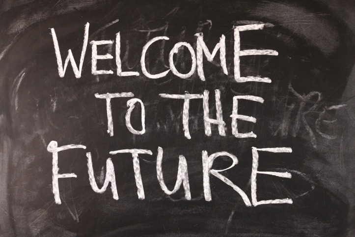 """Welcome to the Future"" written on a chalkboard by geralt on Pixabay at https://pixabay.com/en/board-forward-welcome-school-view-1273128/"