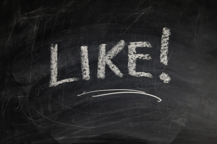 """Like!"" written on a chalkboard by geralt on Pixabay at https://pixabay.com/en/board-school-love-like-friends-928389/"
