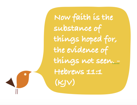 "Bird quoting Hebrews 11:1 ""Now faith is the substance of things hoped for, the evidence of things not seen."""