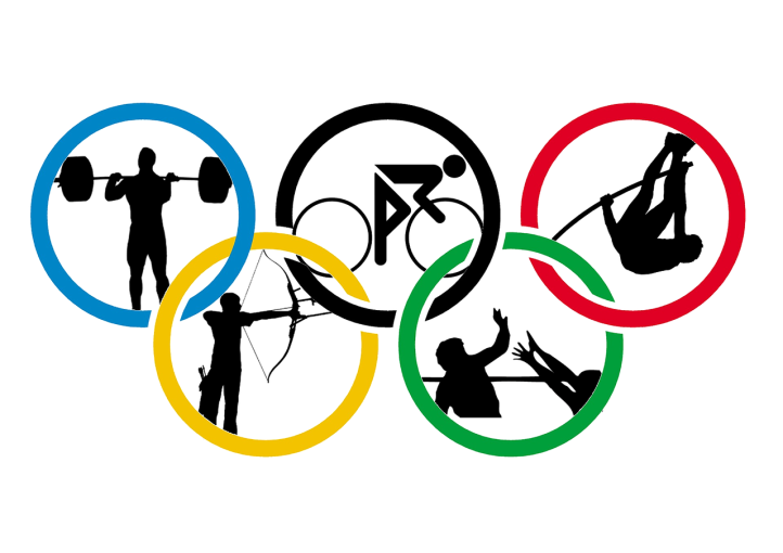 Olympic rings filled populated with athletes by diema on Pixabay at https://pixabay.com/en/rio-de-janeiro-2016-brazil-1177950/