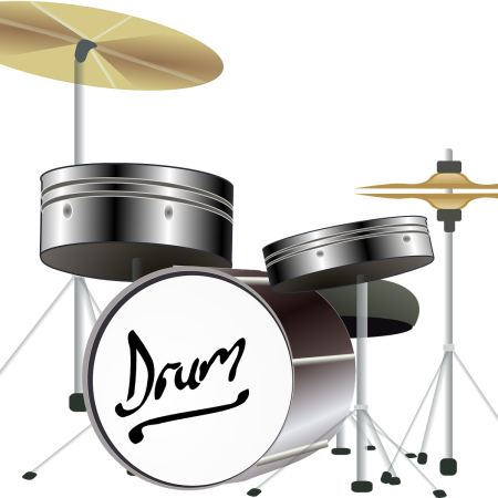 Drum set by Clker-Free-Vector-Images on Pixabay at https://pixabay.com/en/drums-cymbals-percussion-instrument-31359/