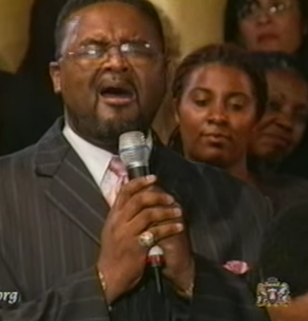 """Still from Andrae Crouch and others singing """"Blood Will Never Lose Its Power"""" on Youtube at https://www.youtube.com/watch?v=5FQCWMOmfio"""