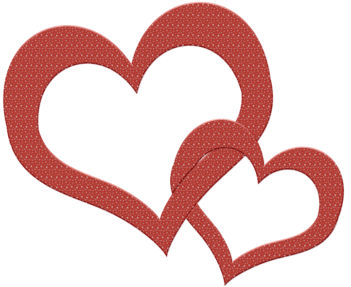 Interlocking Valentine's Day hearts by sips on Pixabay at https://pixabay.com/en/heart-love-romance-symbol-598048/