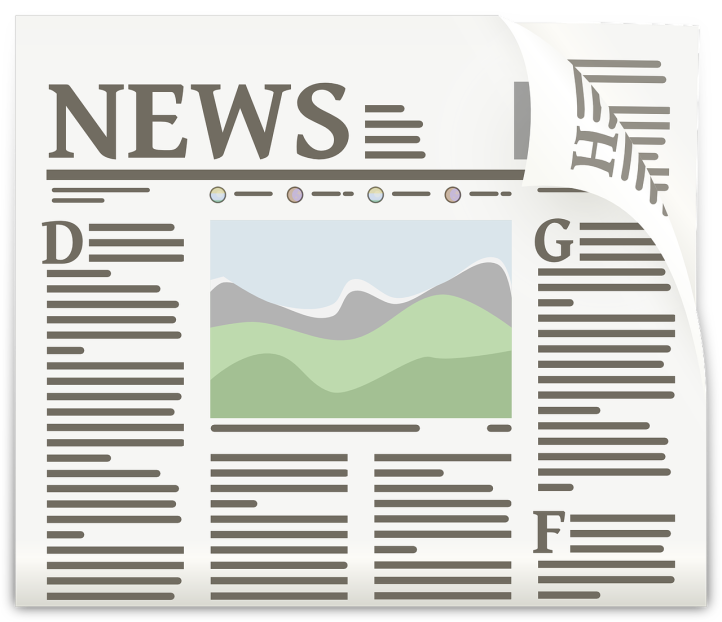 News headline by OpenClipArt-Vectors on Pixabay at https://pixabay.com/en/newspaper-article-journal-headlines-154444/