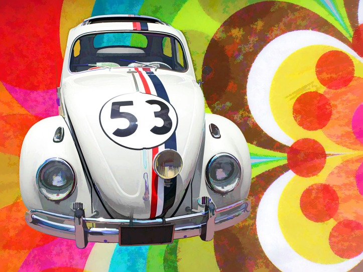 Herbie the Love Bug by InspiredImages on Pixabay at https://pixabay.com/en/volkswagen-beetle-art-car-vehicle-1377320/